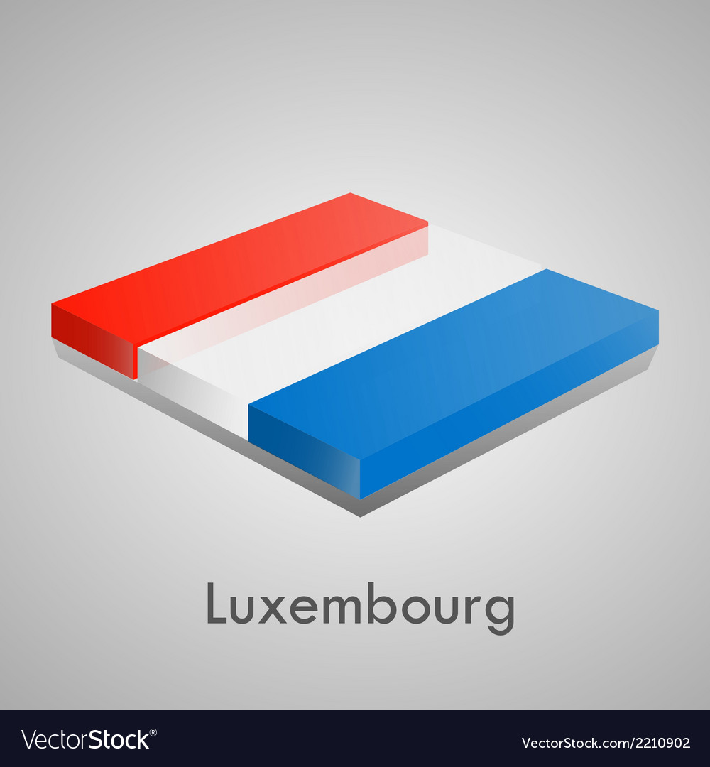 European flags set - luxembourg vector | Price: 1 Credit (USD $1)