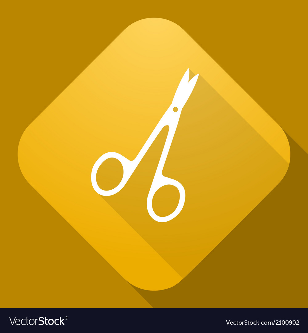 Icon of scissors with a long shadow vector | Price: 1 Credit (USD $1)