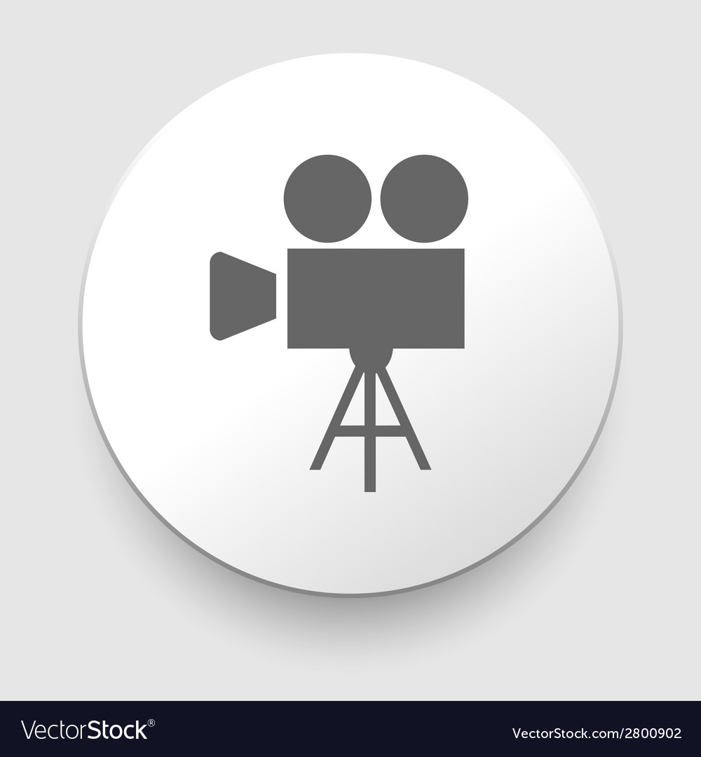 Movie symbol on gray background vector | Price: 1 Credit (USD $1)