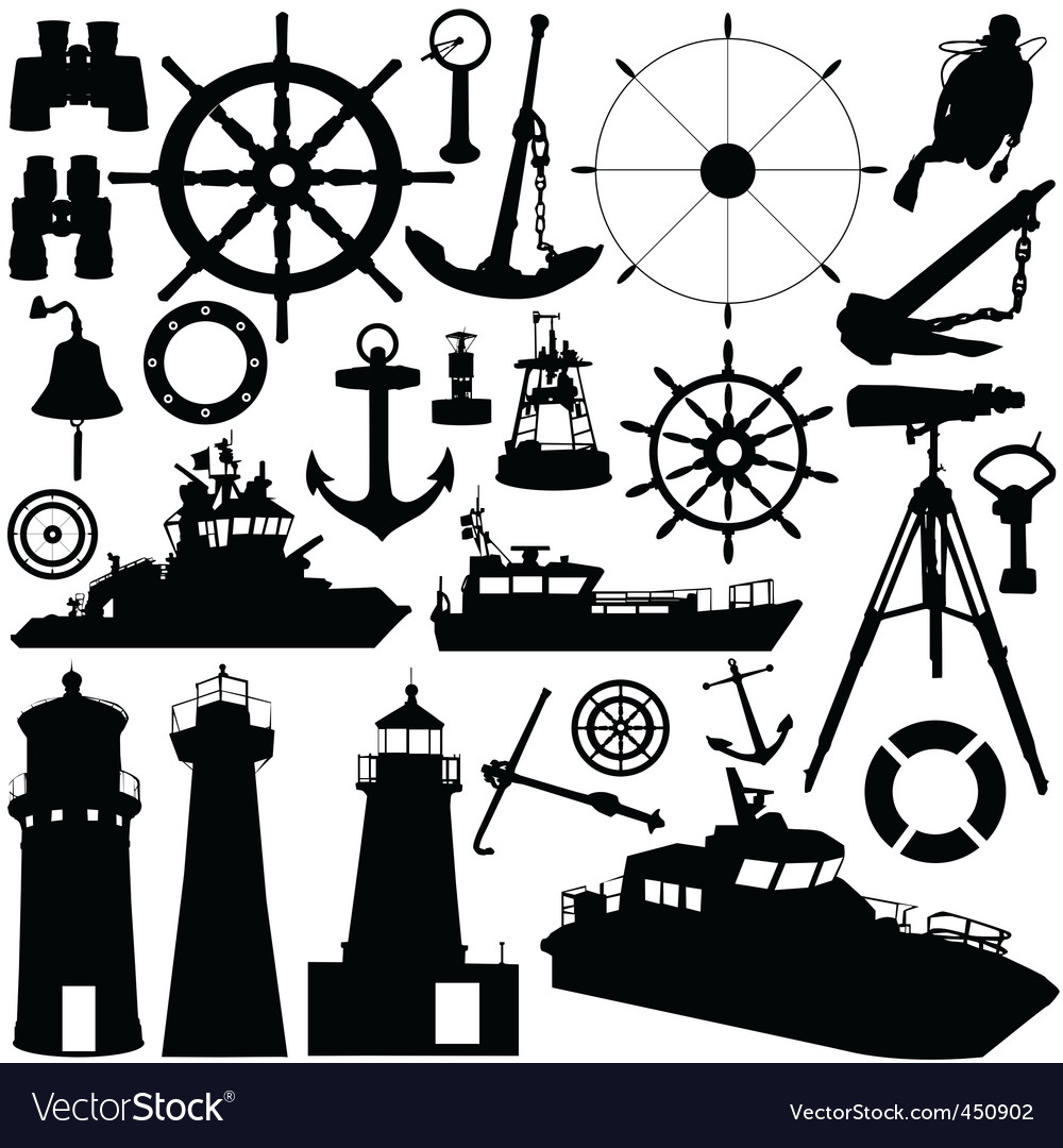 Nautical elements vector | Price: 1 Credit (USD $1)