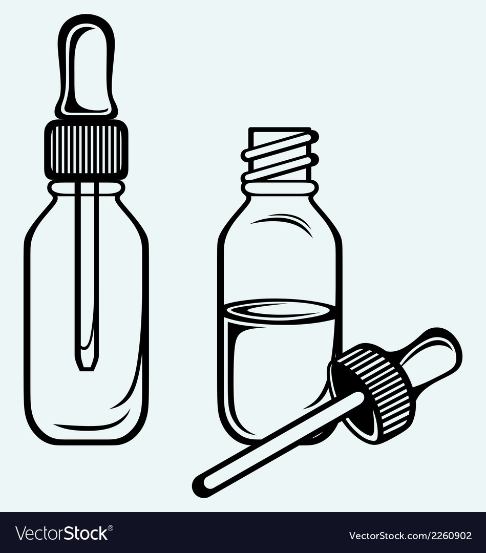 Open medicine bottle with a dropper vector | Price: 1 Credit (USD $1)