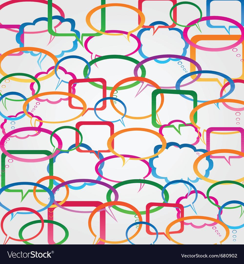 Speech bubble wallpaper vector | Price: 1 Credit (USD $1)