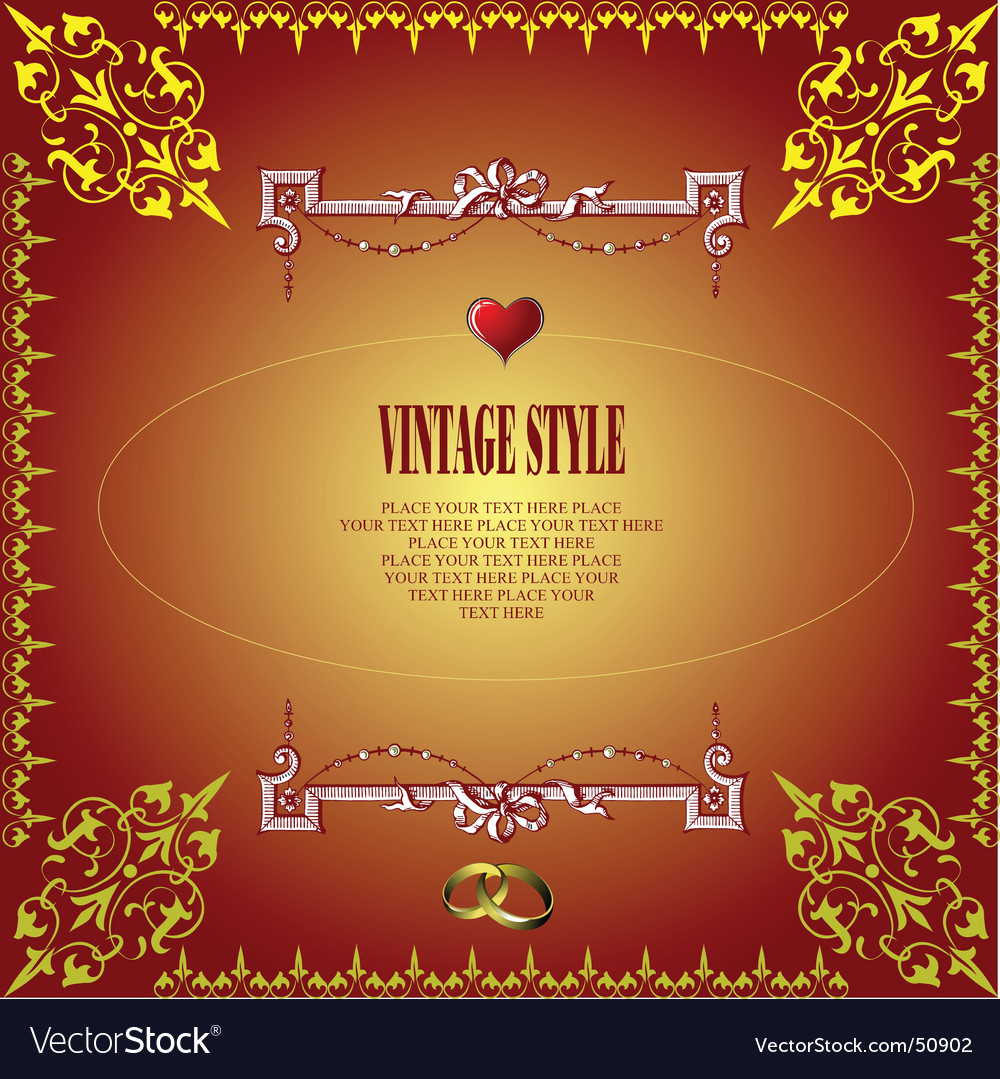 Wedding greeting card vector | Price: 1 Credit (USD $1)