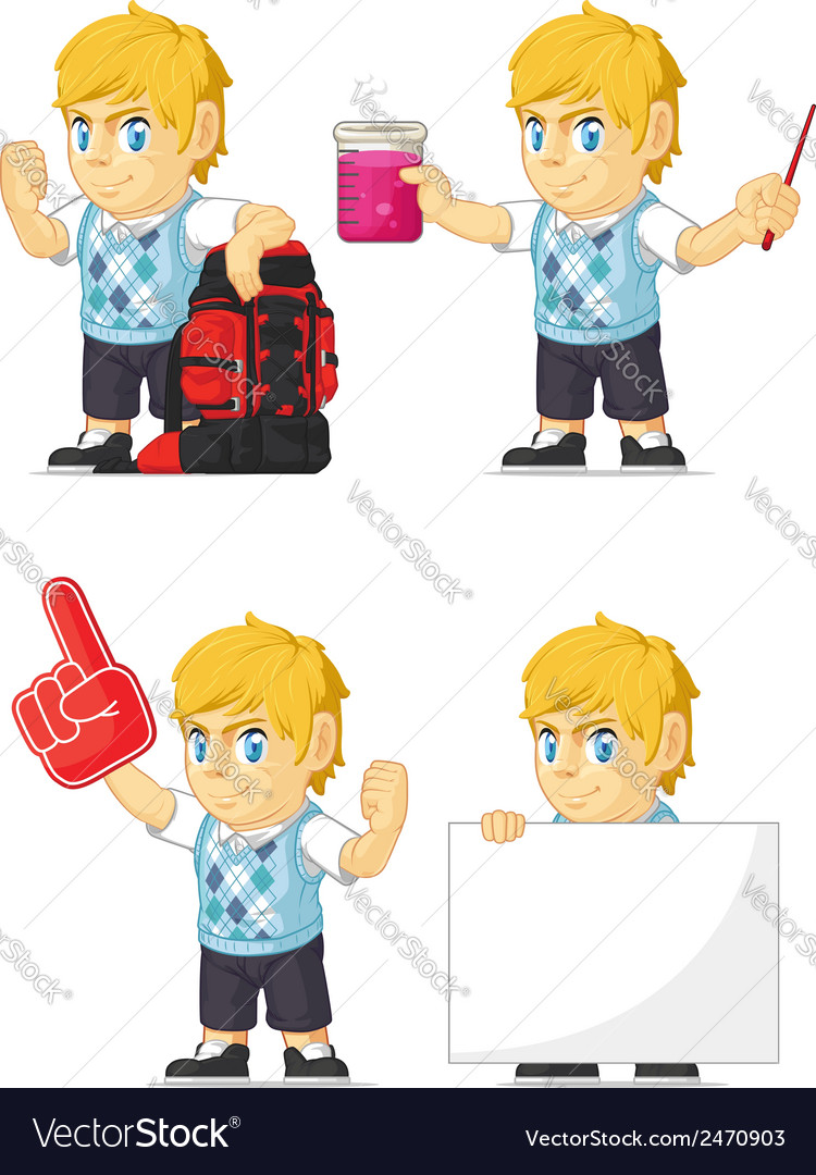 Blonde rich boy customizable mascot 11 vector | Price: 1 Credit (USD $1)