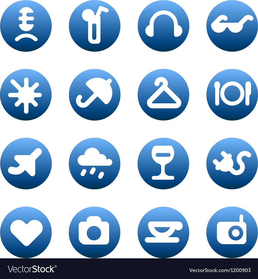 Buttons for leisure and hotel services vector | Price: 1 Credit (USD $1)