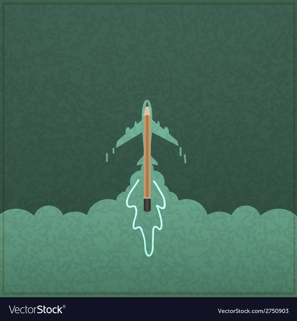 Creativity learning aircraft ship launch made vector | Price: 1 Credit (USD $1)
