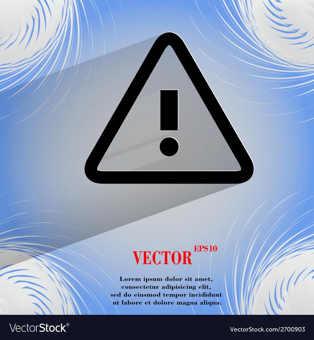 Danger exclamation mark flat modern web design on vector | Price: 1 Credit (USD $1)