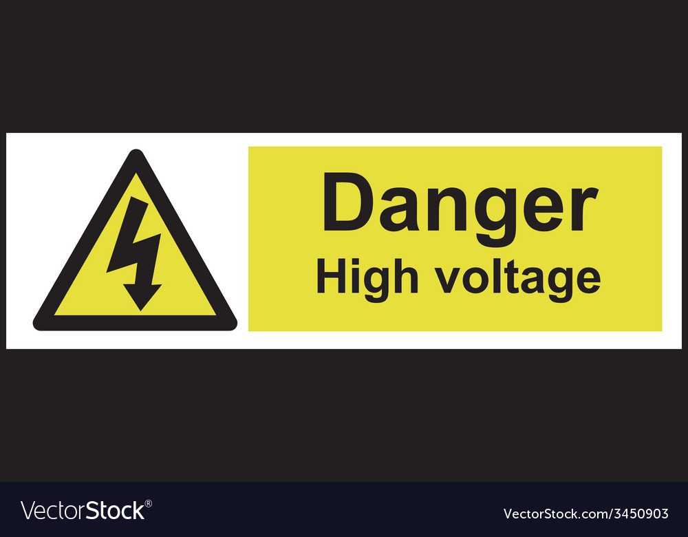 Danger high voltage safety sign vector