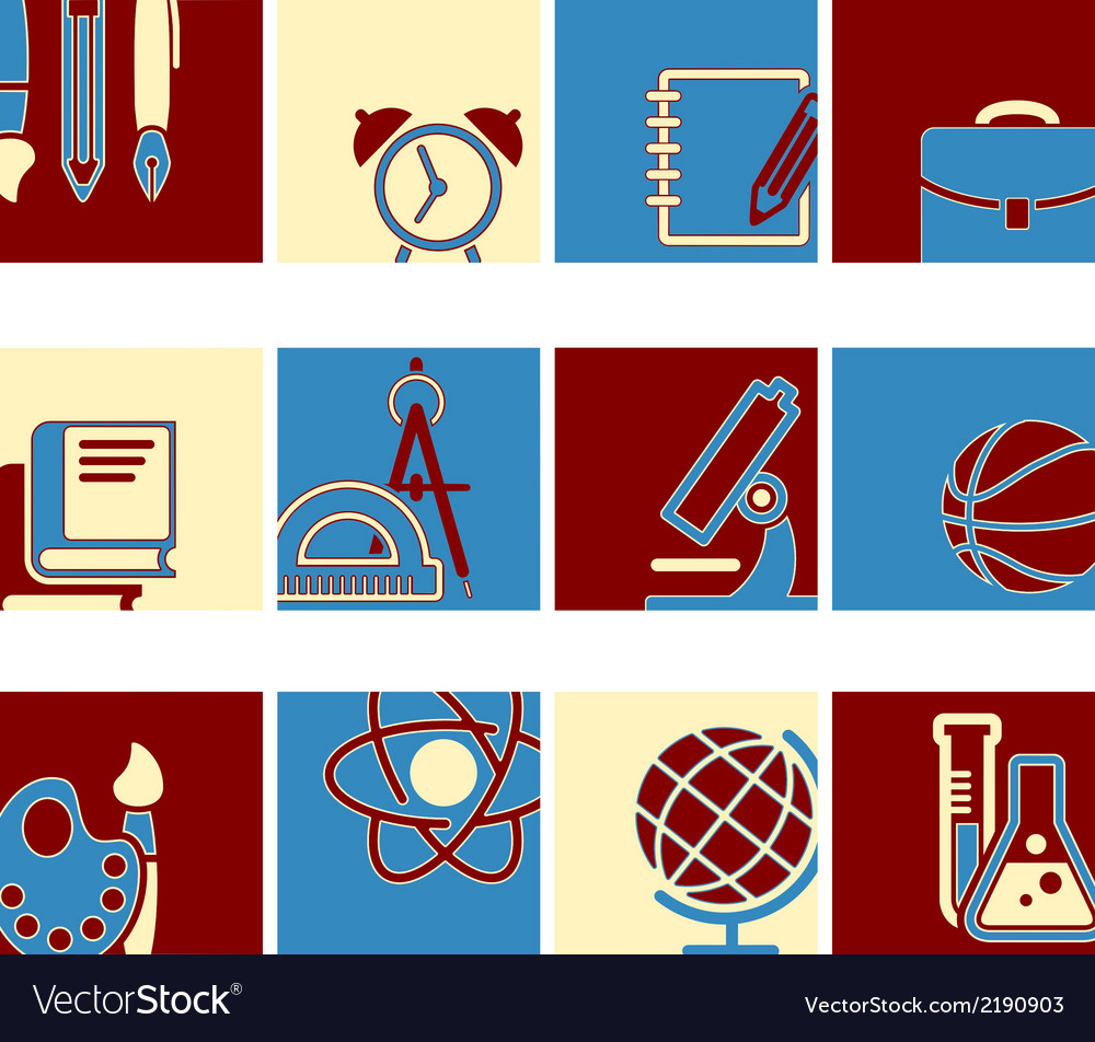 Education school symbol collection vector | Price: 1 Credit (USD $1)