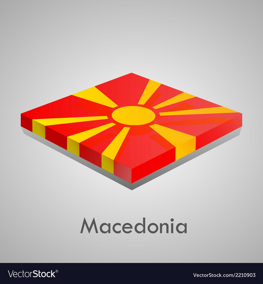 European flags set - macedonia vector | Price: 1 Credit (USD $1)