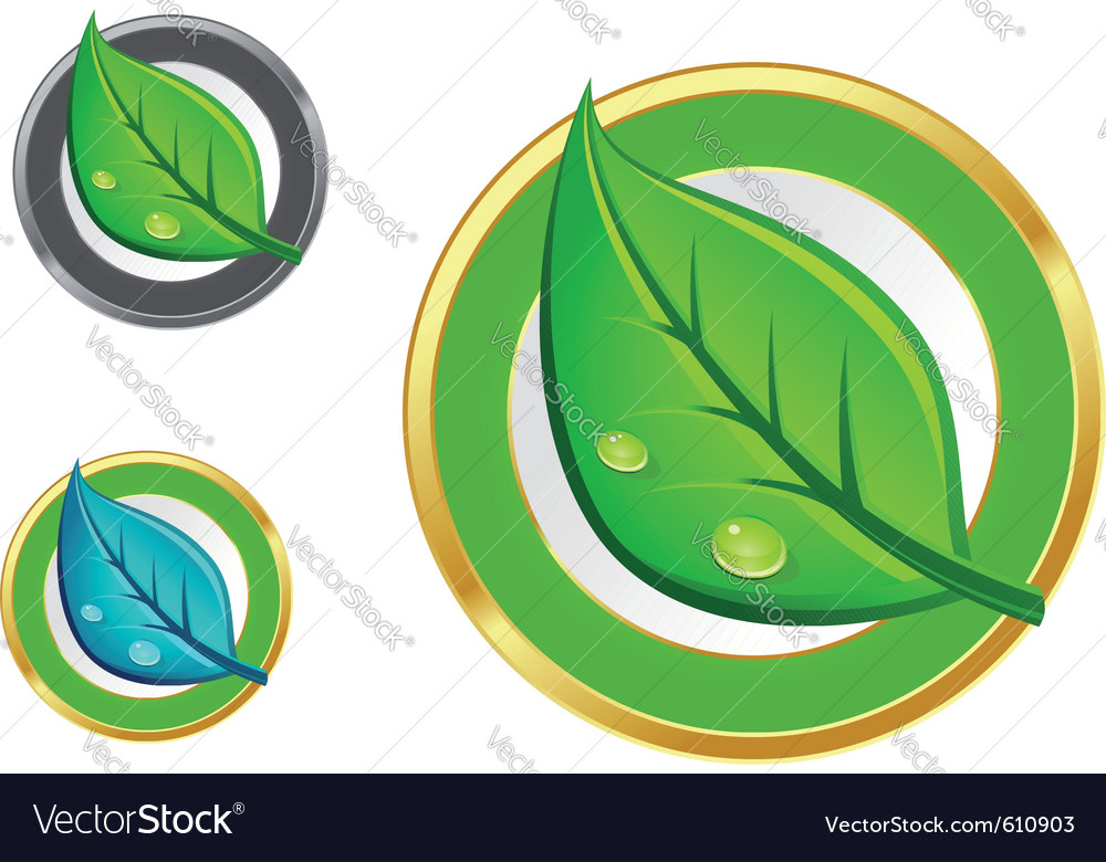 Leaf emblems vector | Price: 3 Credit (USD $3)