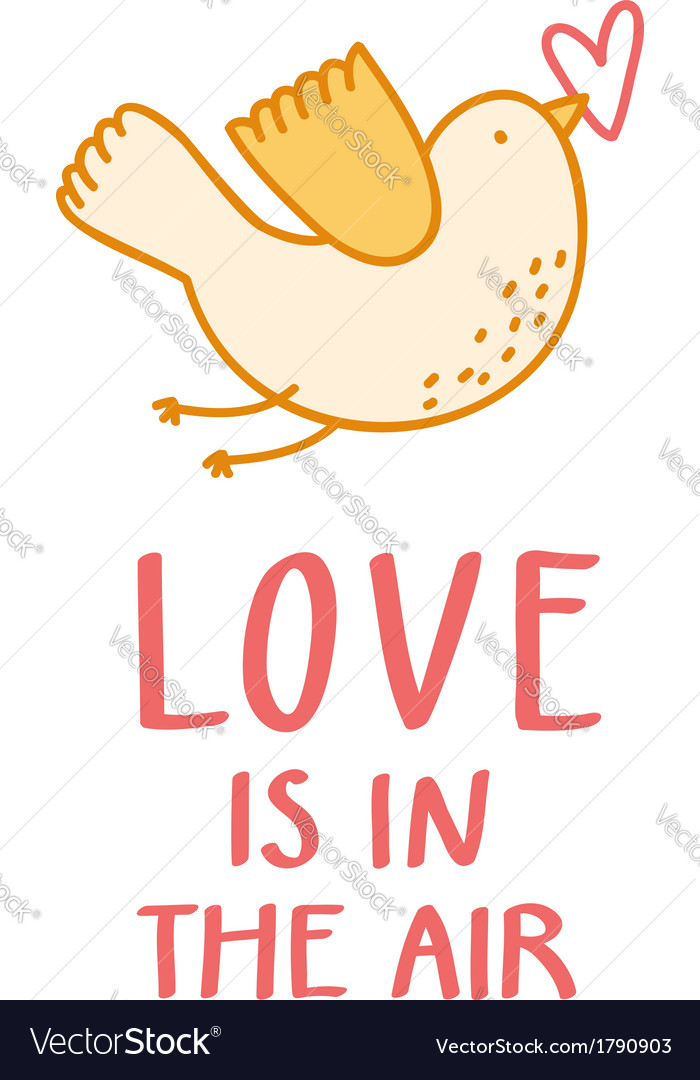 Love is in the air vector | Price: 1 Credit (USD $1)