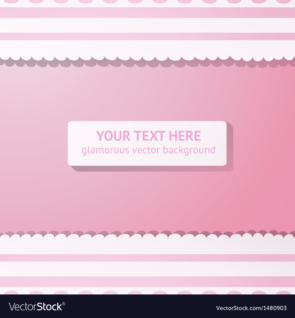 Pink background with vintage white lace vector | Price: 1 Credit (USD $1)
