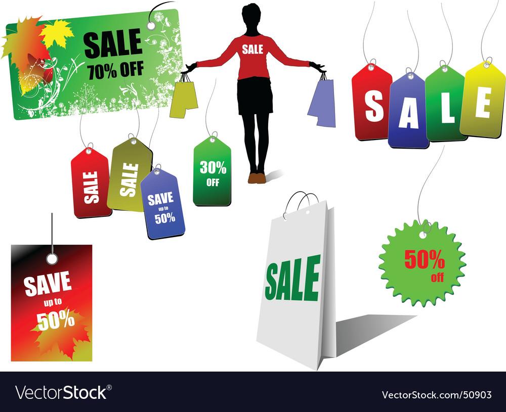 Sale labels vector   Price: 1 Credit (USD $1)