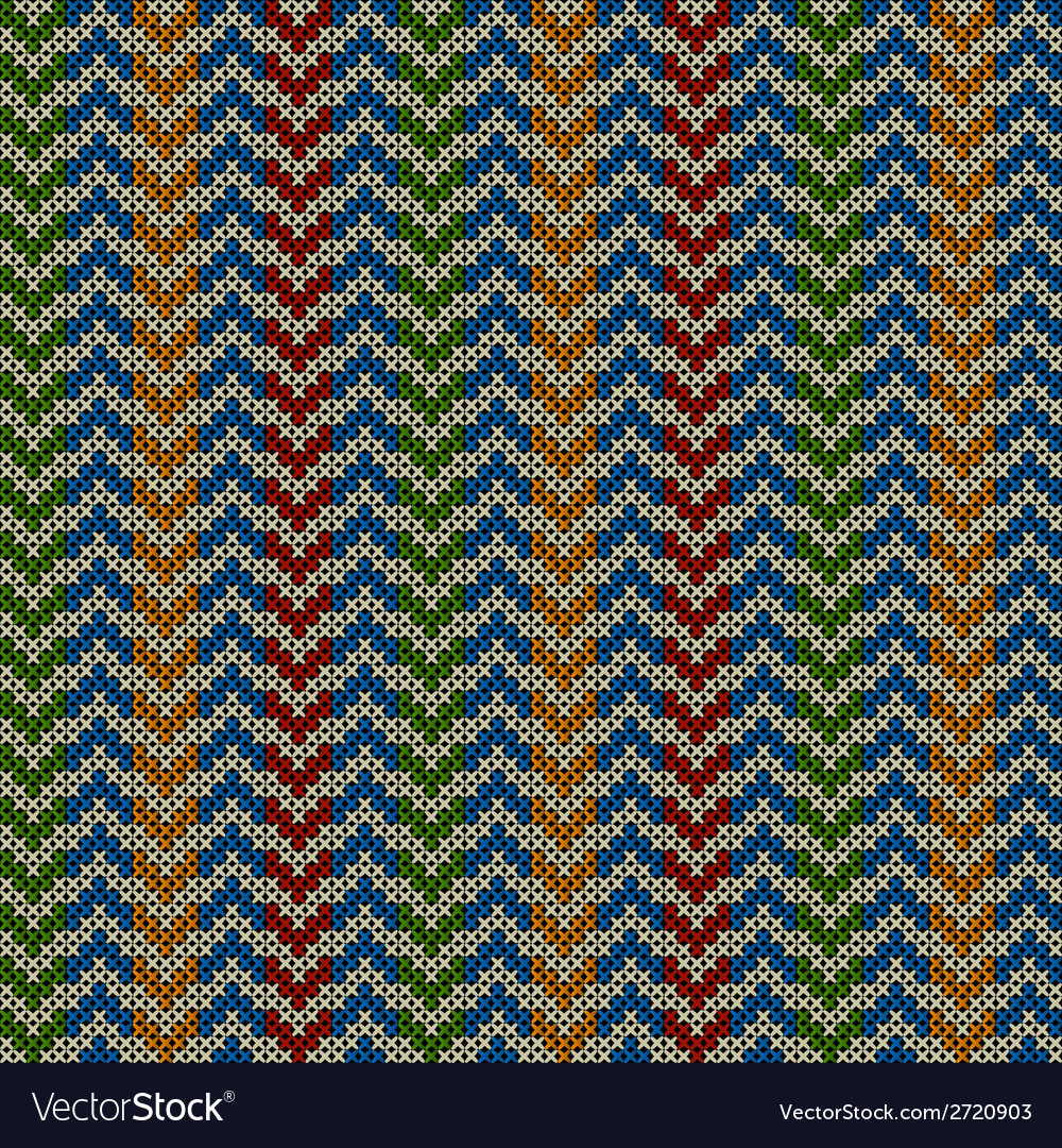 Seamless pattern with knitted motif vector | Price: 1 Credit (USD $1)