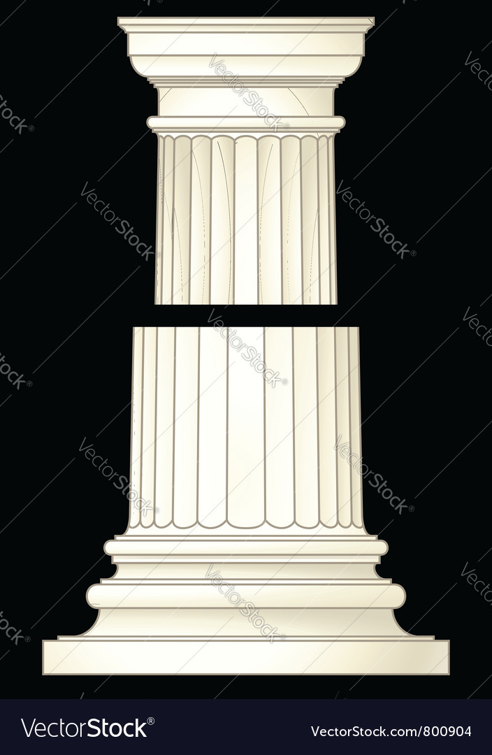 Column in classic style vector | Price: 1 Credit (USD $1)