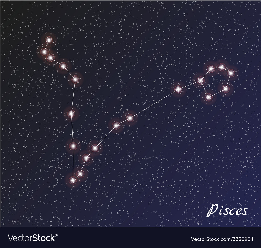 Constellation pisces vector | Price: 1 Credit (USD $1)
