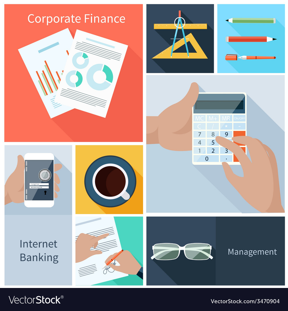 Corporate finance web banking management concept vector | Price: 1 Credit (USD $1)