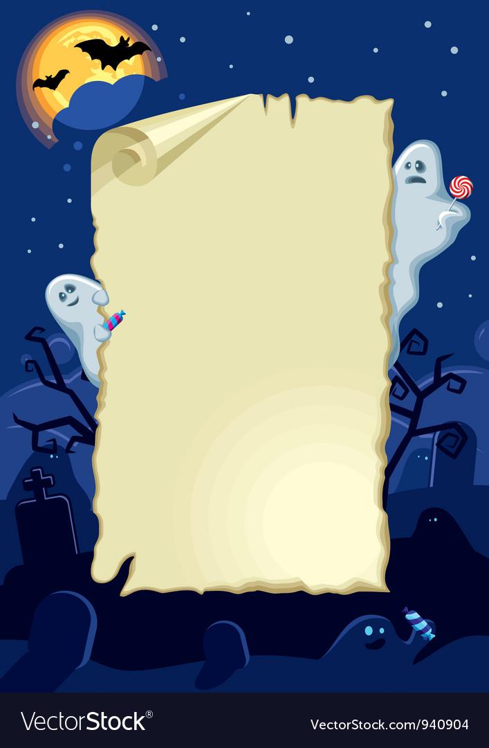 Empty halloween card vector | Price: 3 Credit (USD $3)