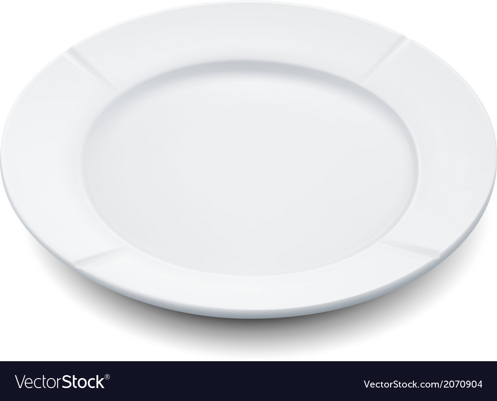 Empty plate vector | Price: 1 Credit (USD $1)