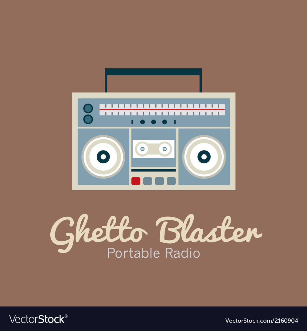 Ghetto blaster radio vector | Price: 1 Credit (USD $1)