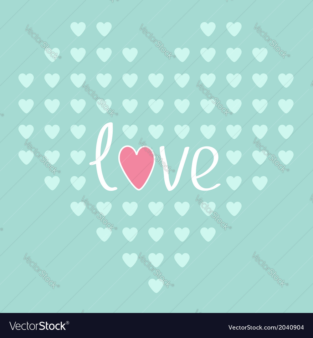Heart from small hearts love card vector | Price: 1 Credit (USD $1)
