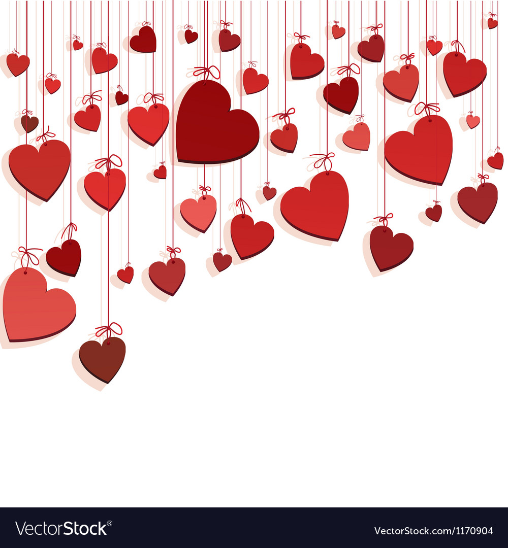 Hearts on ropes vector | Price: 1 Credit (USD $1)