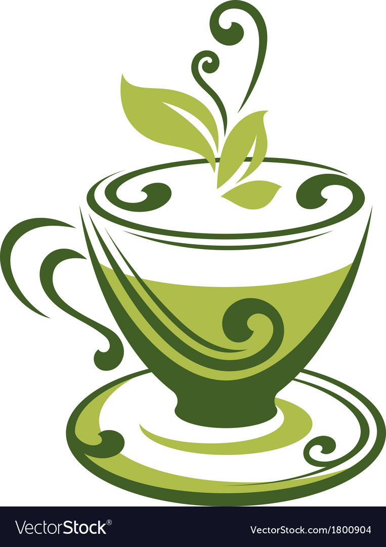 Icon of green tea cup vector | Price: 1 Credit (USD $1)