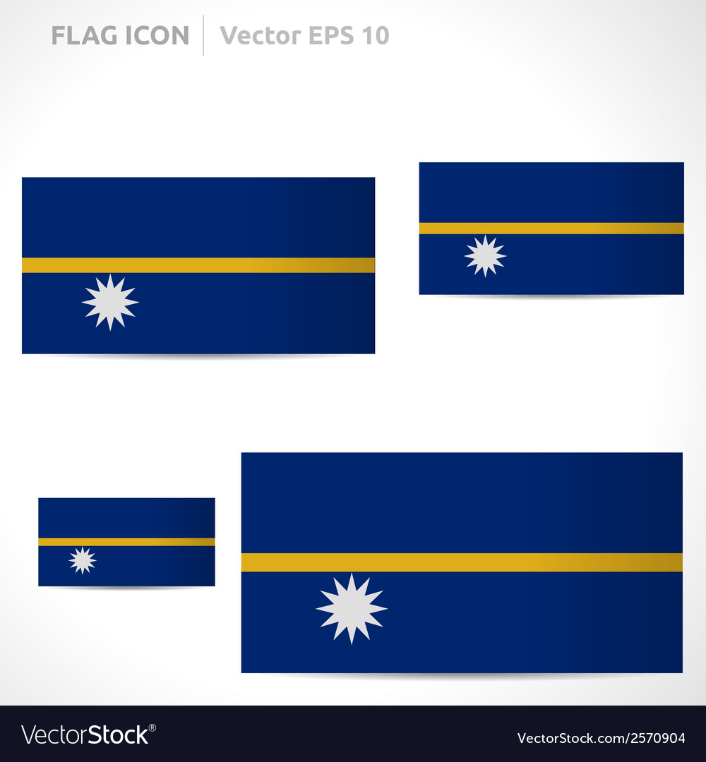 Nauru flag template vector | Price: 1 Credit (USD $1)