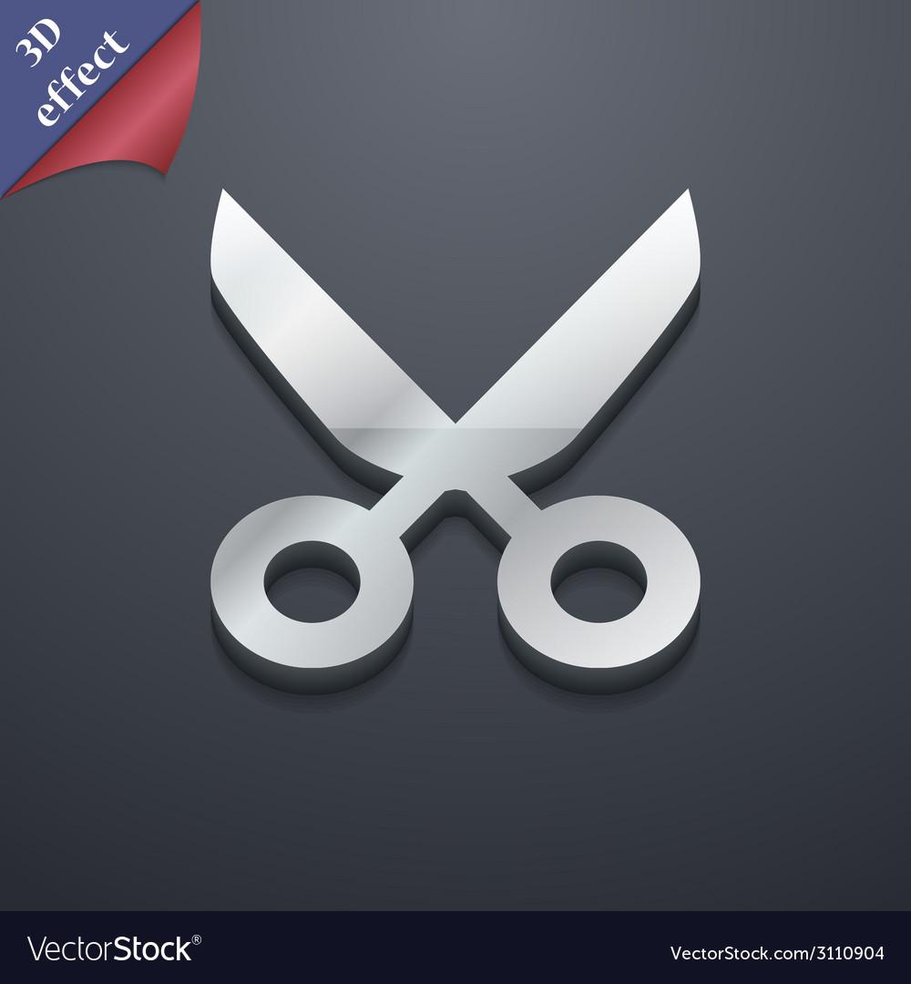 Scissors hairdresser icon symbol 3d style trendy vector | Price: 1 Credit (USD $1)