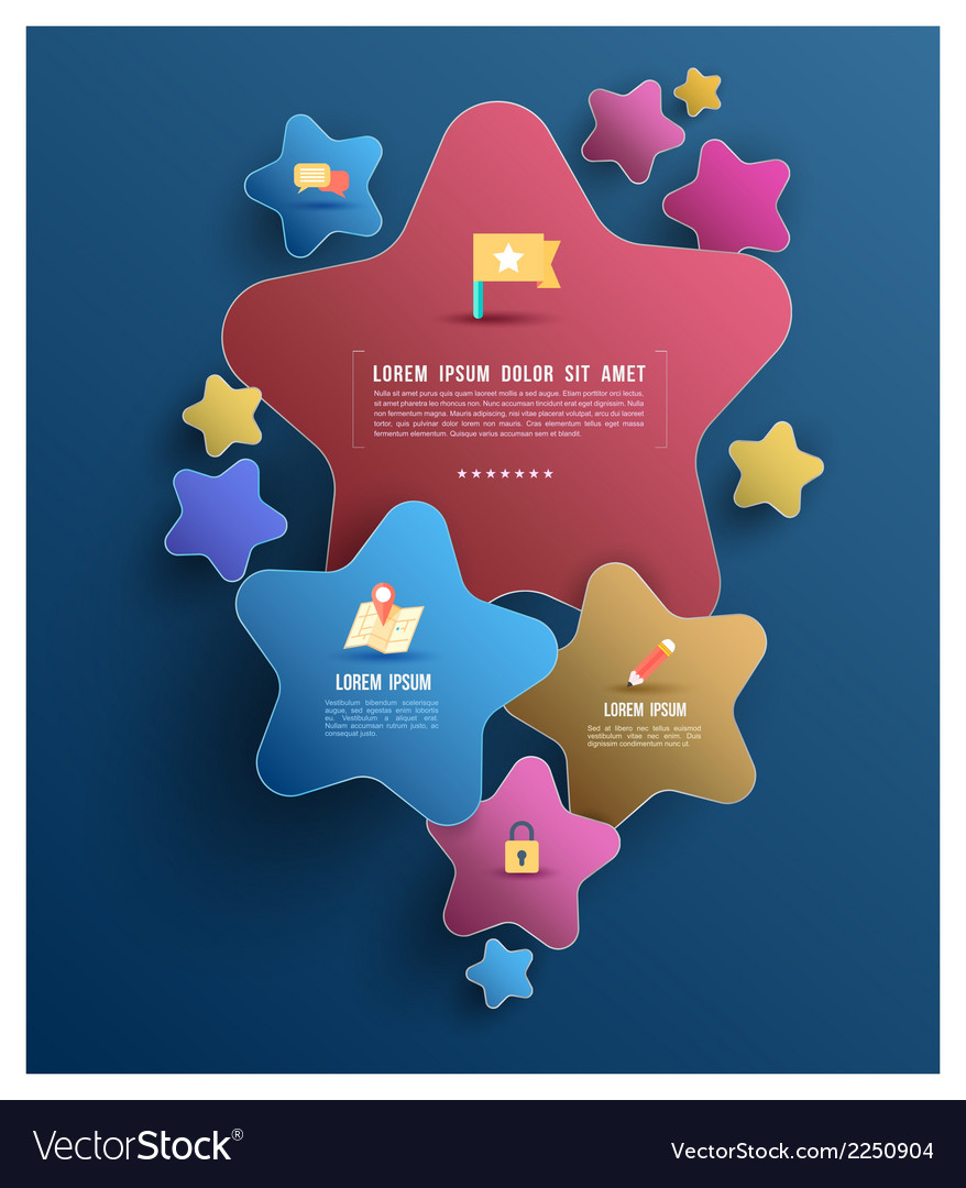 Star group with icons vector | Price: 1 Credit (USD $1)