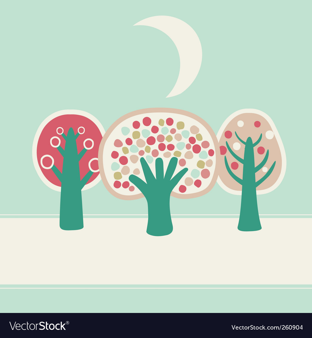 Trees background vector | Price: 3 Credit (USD $3)