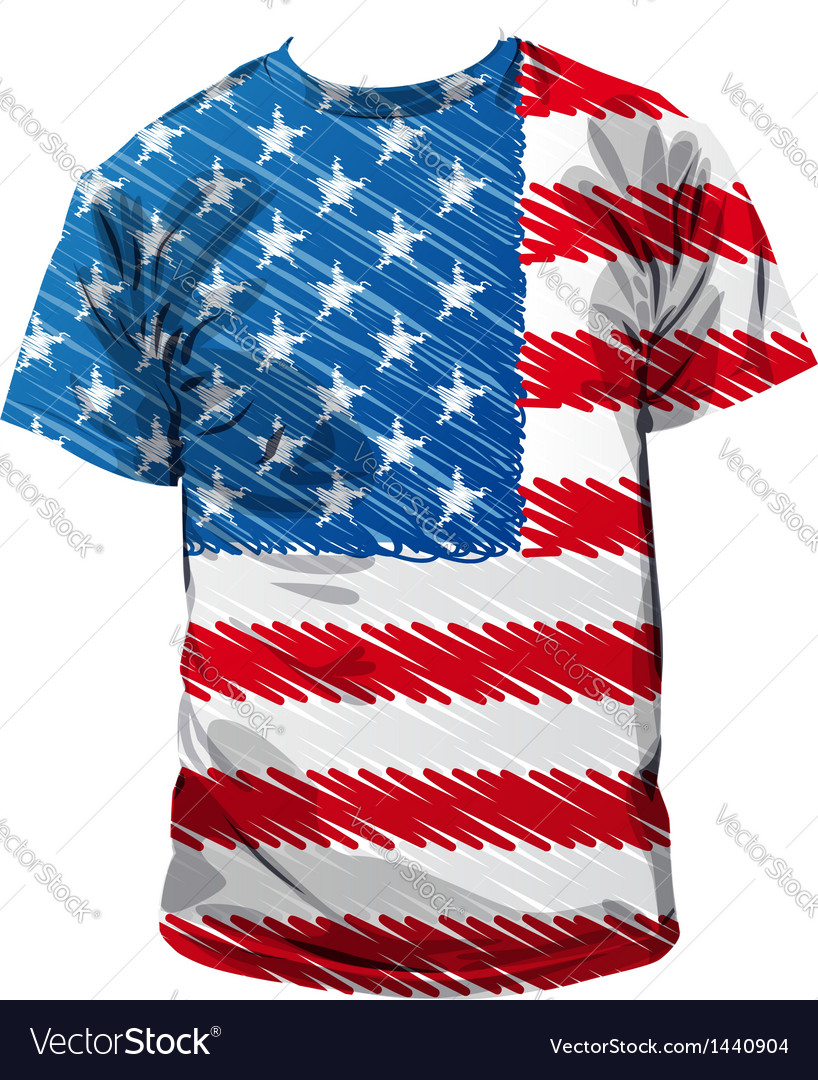 Us tee vector | Price: 1 Credit (USD $1)
