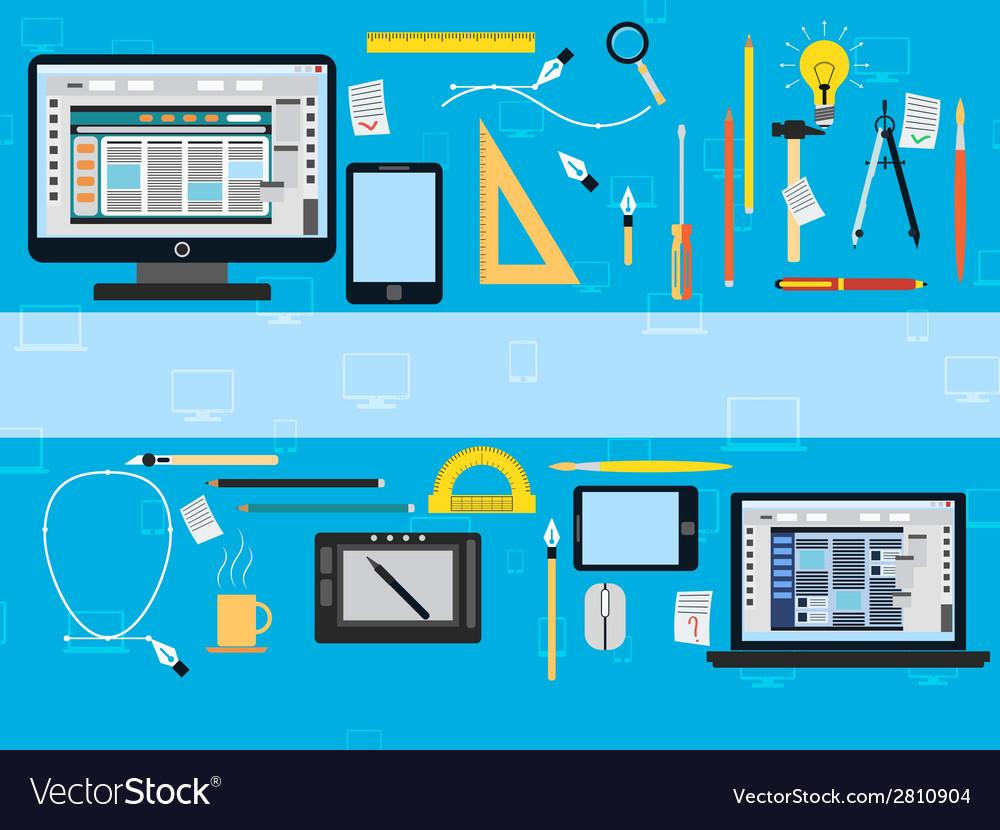Web design flat concept vector | Price: 1 Credit (USD $1)
