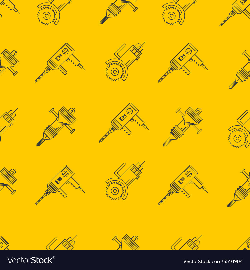 Yellow background for construction tools vector | Price: 1 Credit (USD $1)