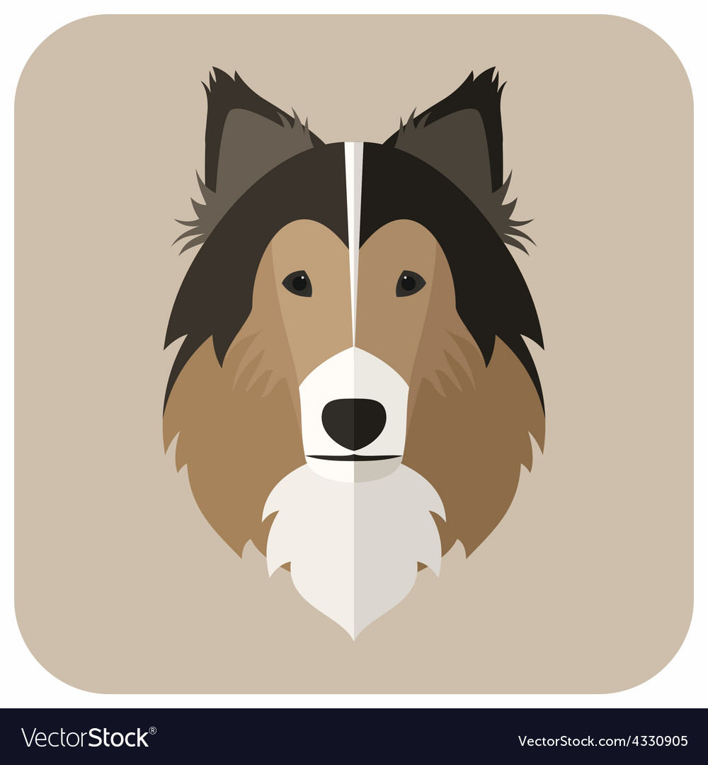 Animal portrait with flat design dog vector | Price: 1 Credit (USD $1)