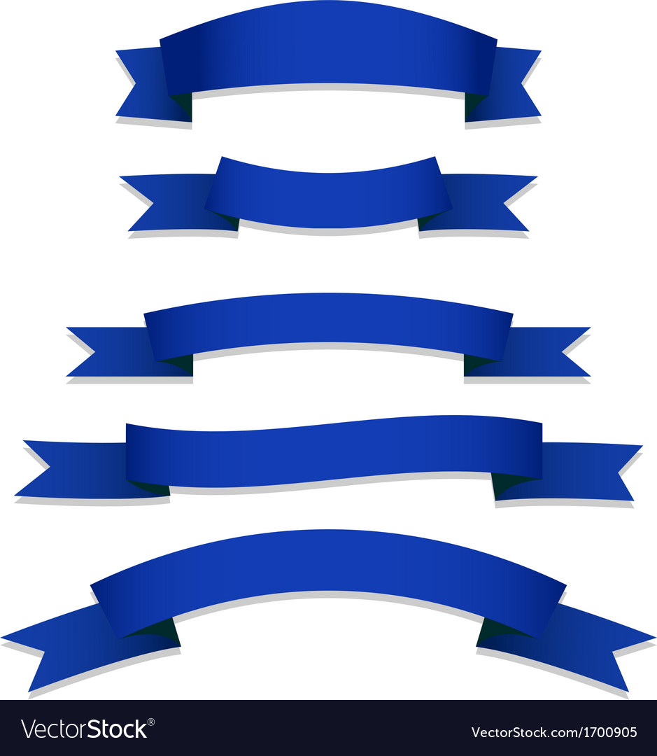 Blue ribbons flags vector | Price: 1 Credit (USD $1)