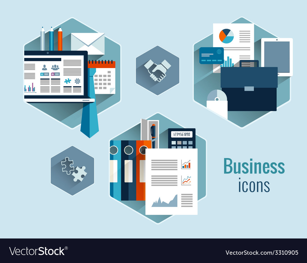 Business concepts set vector | Price: 1 Credit (USD $1)