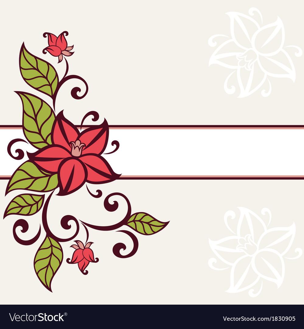Flourish invitation card vector | Price: 1 Credit (USD $1)
