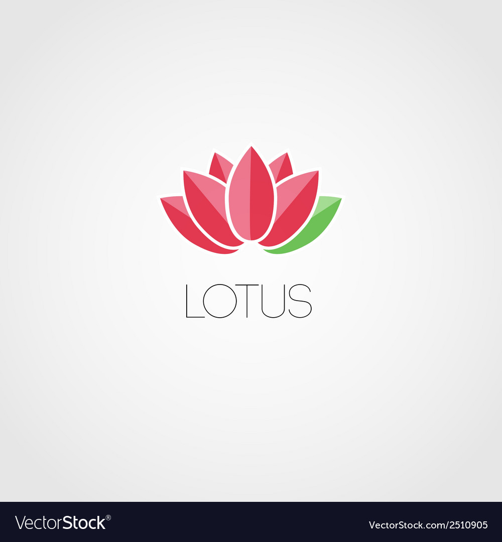 Lotus flowers design for spa resort vector | Price: 1 Credit (USD $1)
