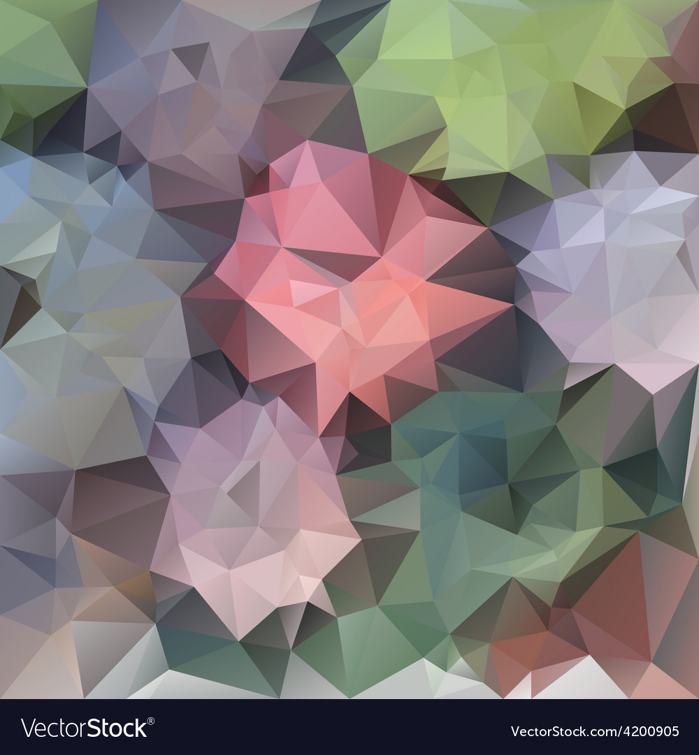 Pastel spring flower polygonal triangular pattern vector | Price: 1 Credit (USD $1)