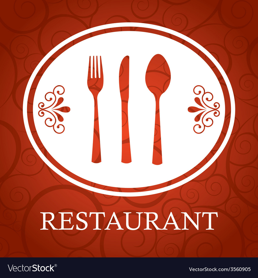 Restaurant cover vector | Price: 1 Credit (USD $1)