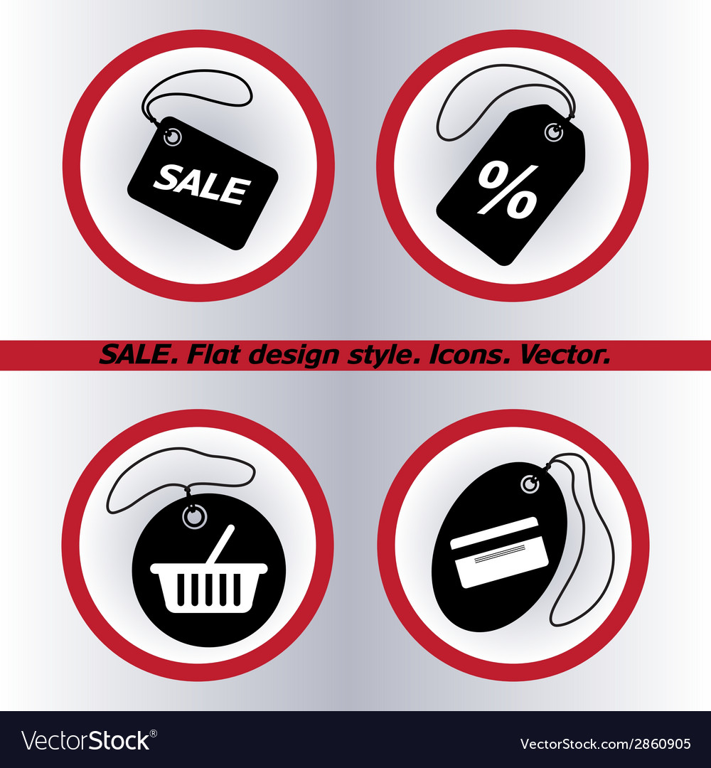 Sale tag icon  flat design style vector | Price: 1 Credit (USD $1)