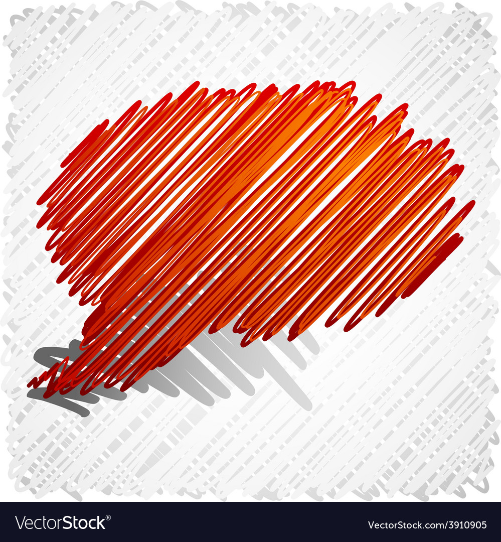 Scribbled speech shape vector | Price: 1 Credit (USD $1)