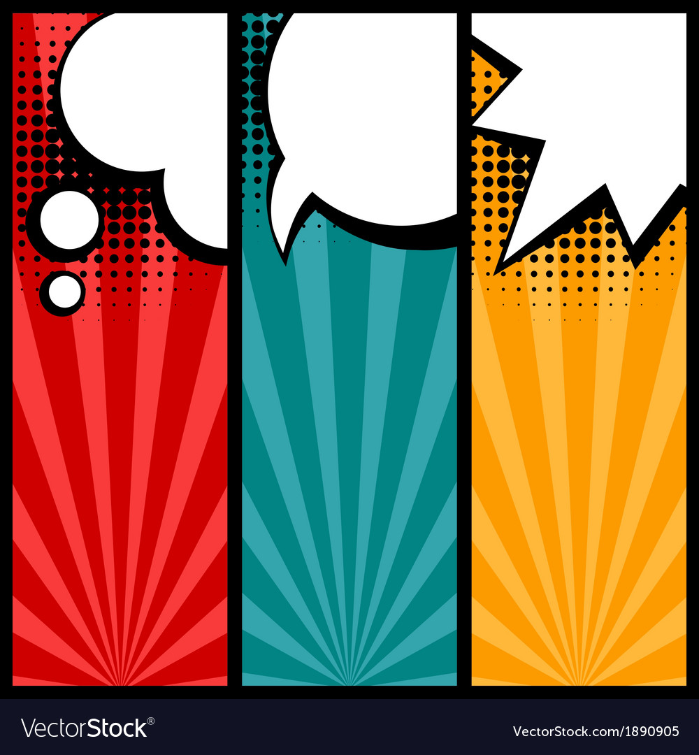 Set of speech bubbles in pop art style vector | Price: 1 Credit (USD $1)