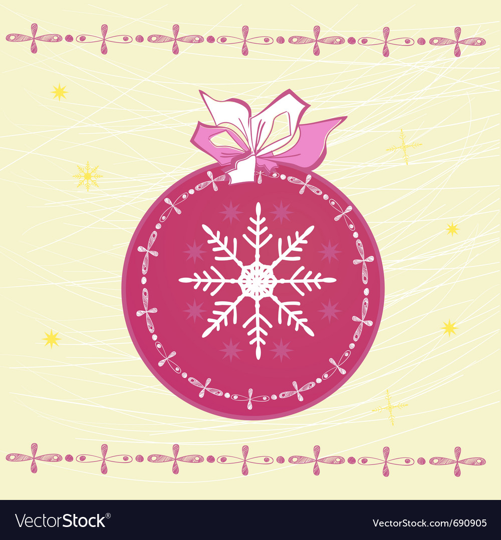 Template for christmas card vector | Price: 1 Credit (USD $1)
