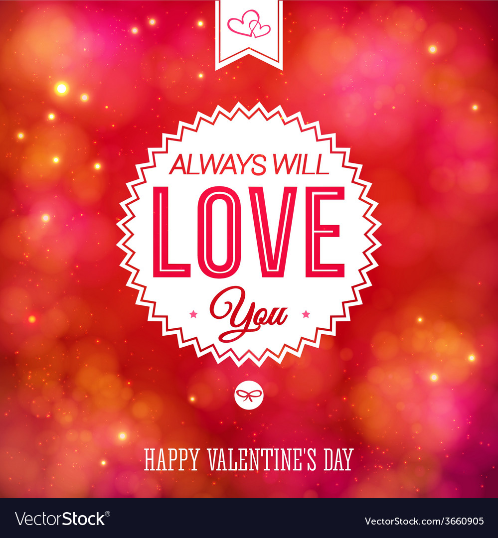 Tender colorful valentines day card design vector | Price: 1 Credit (USD $1)