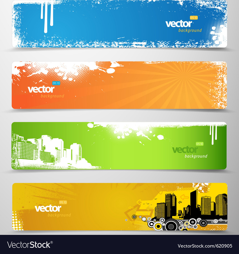 Web grunge headers vector | Price: 1 Credit (USD $1)