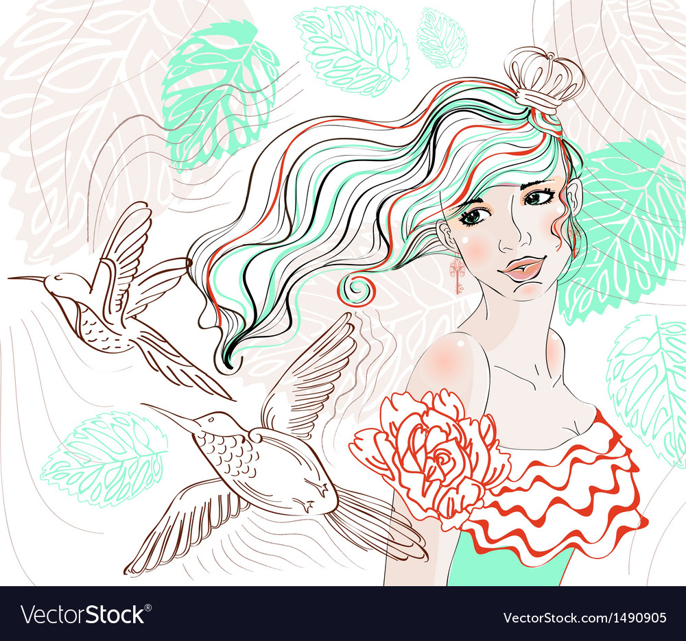 Woman background4 vector | Price: 1 Credit (USD $1)