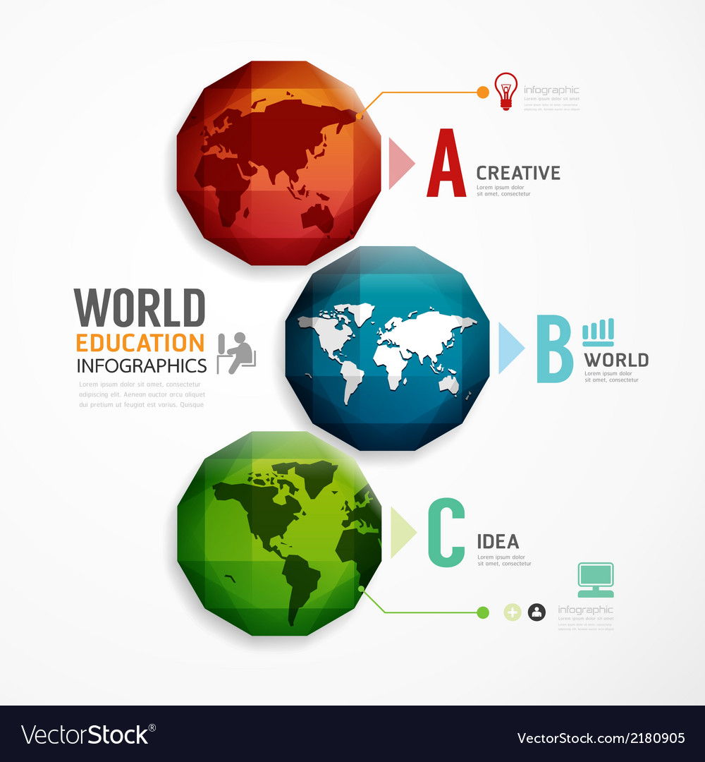 World geometric colorful modern design vector | Price: 1 Credit (USD $1)